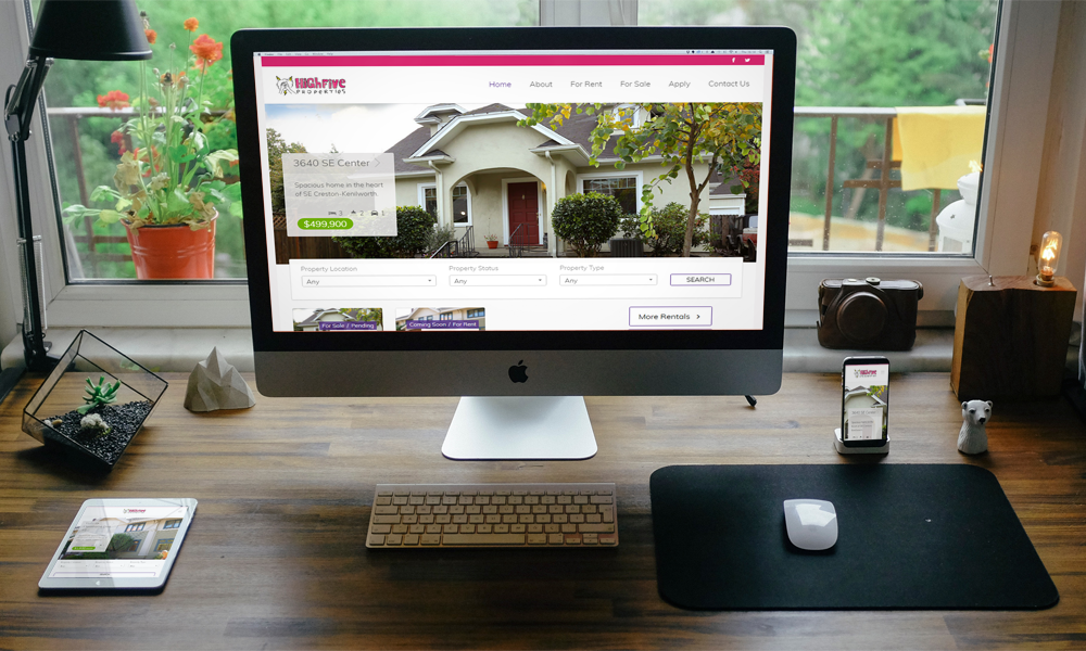 High Five Properties Website is now responsive!